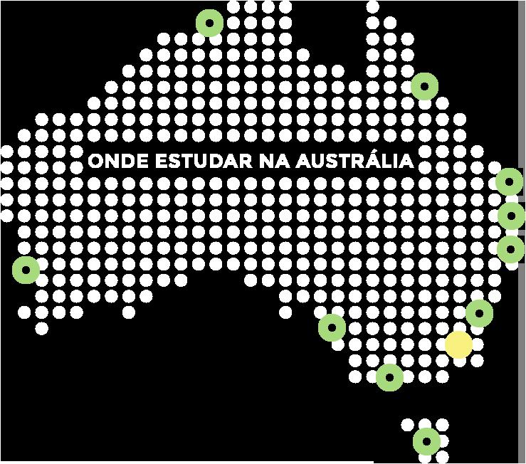 Mapa da Austrália - Canberra