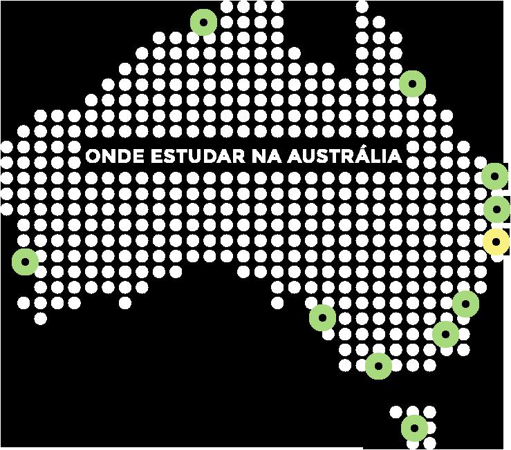 Mapa da Austrália - Gold Coast