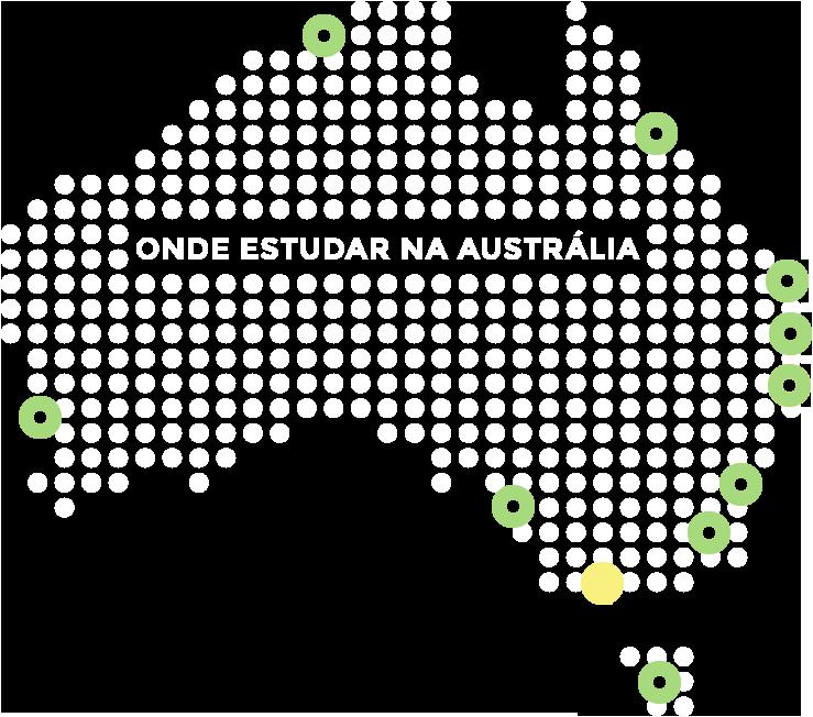 Mapa da Austrália - Melbourne