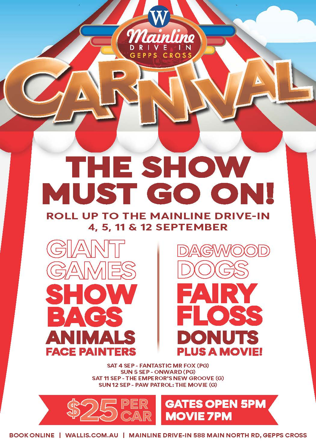 Wallis Cinema's Mainline Drive-in Carnival?>